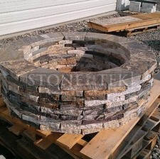 Custom round fire pit