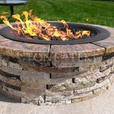"""36"""" Lp. firepit with table ledge"""