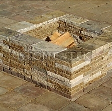 """34"""" Square fire pit"""