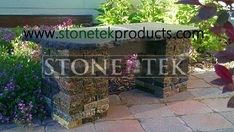 StoneTek Recycled Granite Garden Bench