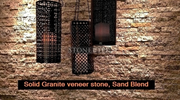StoneTek Recycled Granite Split stone tile
